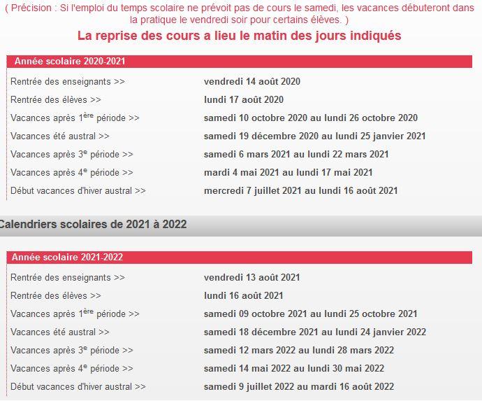 Calendrier Mutation Intra 2022 Calendrier scolaire 2020 2022   Snes Fsu Réunion